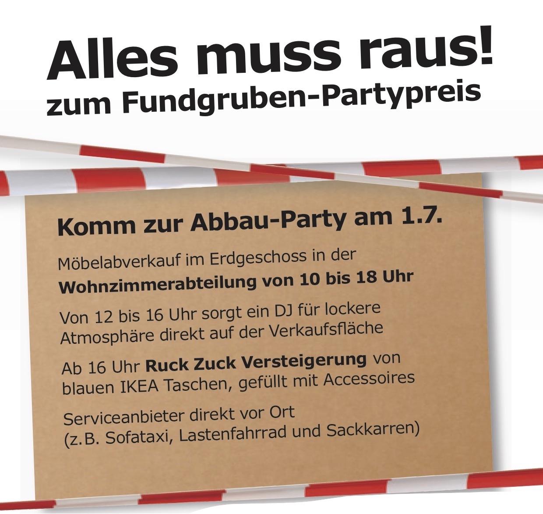 Komm Zur Abbau Party Bei IKEA Hamburg Altona Am Samstag, Den 1.7. Von 10  Bis 18 Uhr.